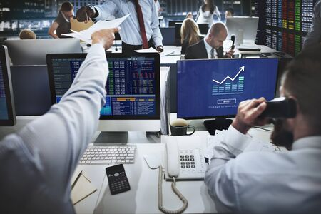 stockmarket chart: Graph Chart Invest Report Icon Concept Stock Photo
