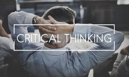 critical thinking: Critical Thinking Knowledge Strategy Innovation Concept Stock Photo