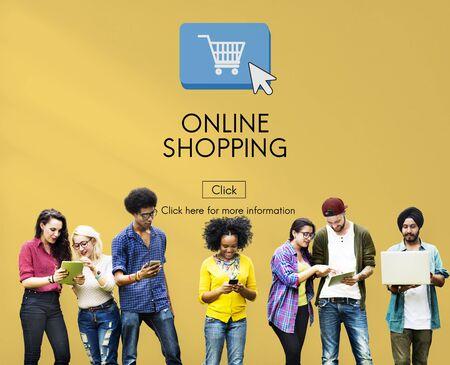 Compras en línea de E-business de concepto de tecnología digital Foto de archivo - 56250027
