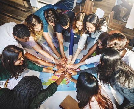 Концепция Classmate солидарности Team Group сообщество Фото со стока