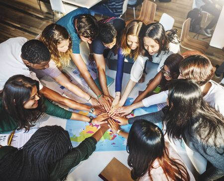 Classmate Solidarity Team Group Community Concept 写真素材