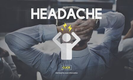 ilness: Headache Ilness Sick Sad Migraine Concept