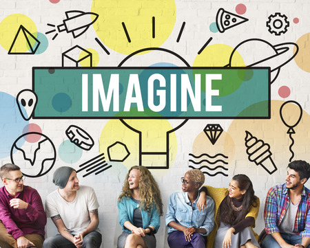 dream vision: Imagine Creative Thinking Vision Dream Expect Concept