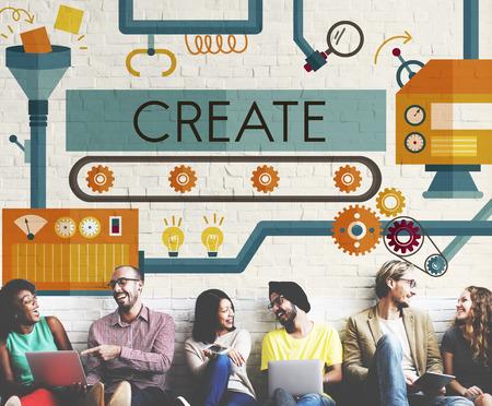 imagination: Create Innovation Imagination Development Ideas Concept Stock Photo