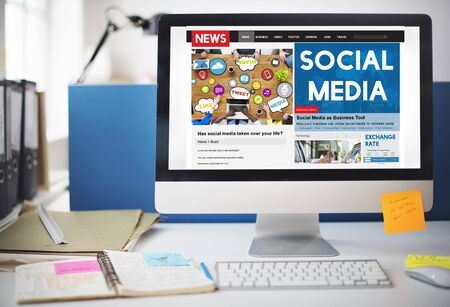 communications tools: Social Media Communication Networking Online Concept