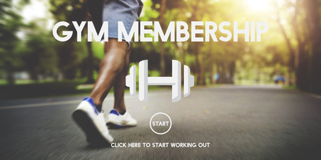 Gym membership concept with man jogging