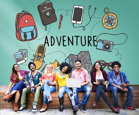 College Student Education Knowledge Study Jeune Concept Banque d'images