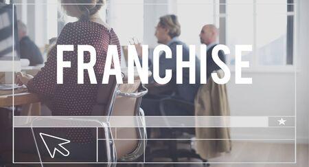 franchising: Franchise Merchandise Retail Business Marketing Concept