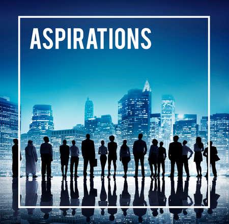 desire: Aspirations Ambition Target Goal Dream Desire Concept