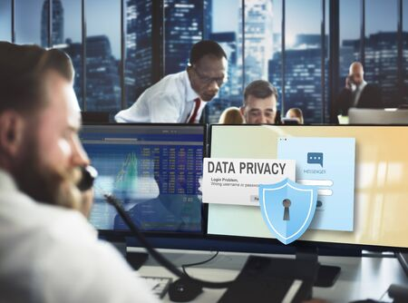 computer tech: Data Privacy protection Policy Technology Legal Concept Stock Photo