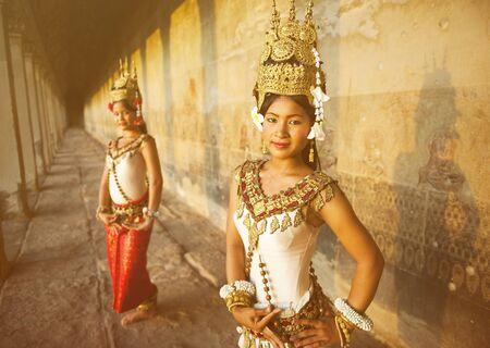 伝統的な Aspara ダンサー カンボジア コンセプト 写真素材