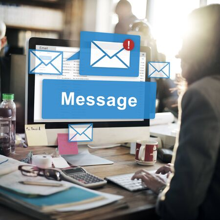 verbal: Message Email Information Letter Report Signal Concept Stock Photo