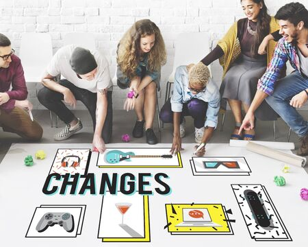 adapting: Changes Adapting Choice Future Improvment Concept