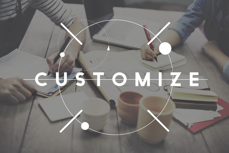customize: Customize Adjust Change Adapting Customization Concept