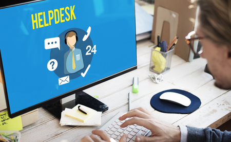 helpdesk: Helpdesk Customer Support Communication Enquiry Concept