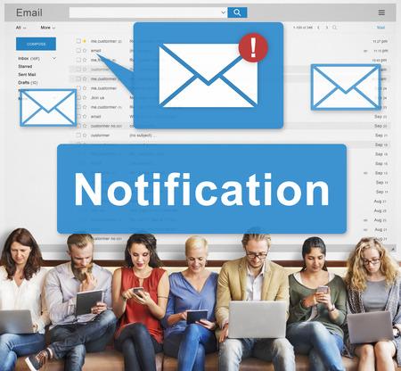 notification: Notification Alert Digital Icon Internet Network Concept Stock Photo