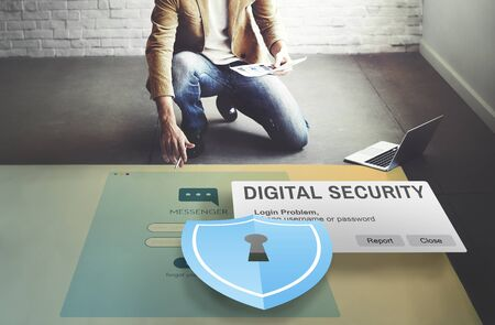 Digital Security Protocol Protection Technology Concept Stock Photo