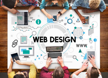 browsing: Web Design Technology Browsing Programming Concept Stock Photo