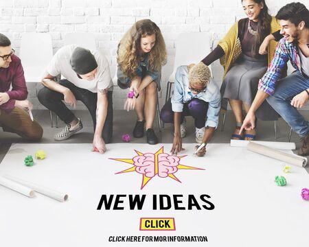 creative idea: New Ideas Design Innovation Plan Action Vision Concept