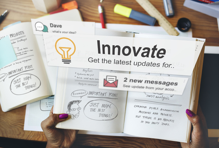 to innovate: Innovate Innovation Technology Development Aspiration Concept Stock Photo