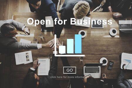 Abierto para el concepto de la industria Business Partnership