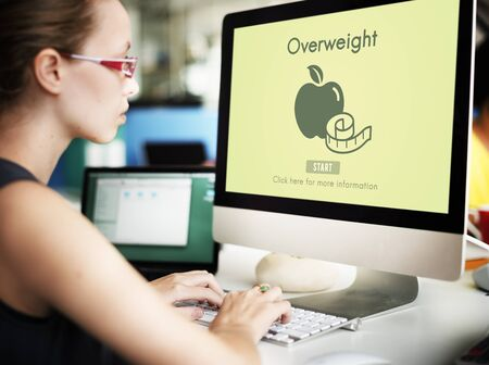 disorder: Overweight Diet Eating Disorder Unhealthy Diabetes Fat Concept