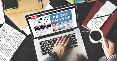 innovative concept: Be the Change Creativity Development Different Innovative Concept