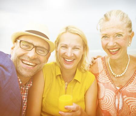 enjoyment: Beach Chill Emotion Enjoyment Fun Friends Concept