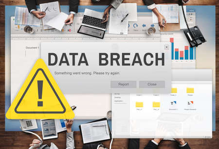 cybercrime: Data Breach Security Confidential Cybercrime Concept