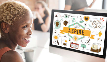 aspire: Aspire Aspiration Ambition Desire Goal Hope Concept