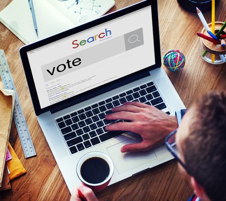 encuestando: Concepto Campaña votación votante voto de sondeo encuesta Decisión