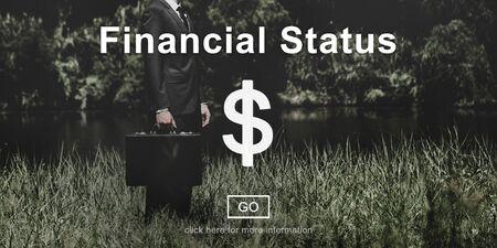 attache case: Financial Status Budget Credit Debt Planning Concept