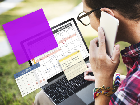 important phone call: Calendar Planner Planning Organixer Note Concept Stock Photo