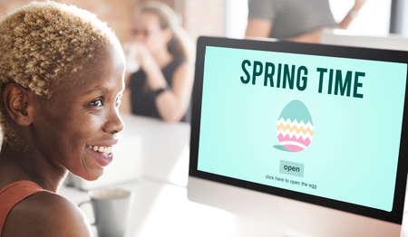 seasonal: Spring Time Seasonal Bloom Freshness Concept Stock Photo