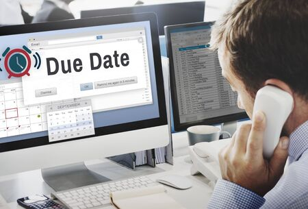 due: Due Date Agenda Appointment Cakendar Day Concept