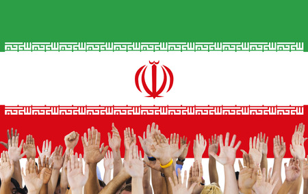 raise the white flag: Iran Country Flag Liberty National Concept