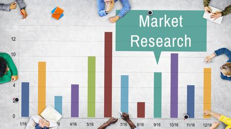 analyze: Market Research Analysis Consumer Marketing Strategy Concept Stock Photo
