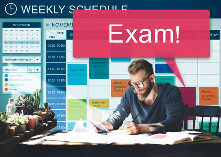 recordar: Exam Schedule Education Planning Remember Concept