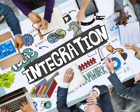 unite: Integration Blend Combine Merge Unite Consolidate Concept
