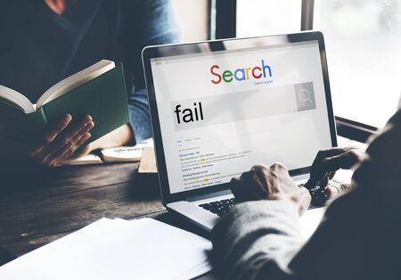 fiasco: Fail Failed Failing Failure Fiasco Defeat Collapse Concept