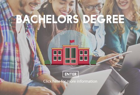 bachelor: Academic College Bachelor Degree Admission Concept