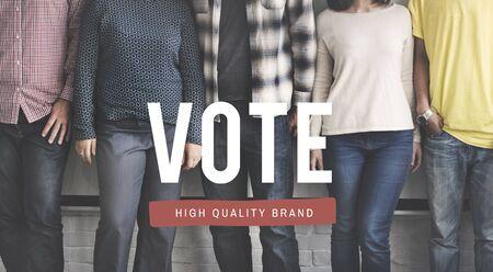 encuestando: Concepto de la elección voto decisión de registro de sondeo