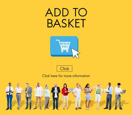 consumerism: Basket Buying Cart Commerce Consumerism Digital Concept