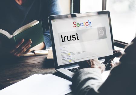 trustworthy: Trust Reliability Faith Belief Honest Trustworthy Concept Stock Photo