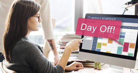 day off: Day Off Vacation Holiday Event Relaxation Concept Stock Photo