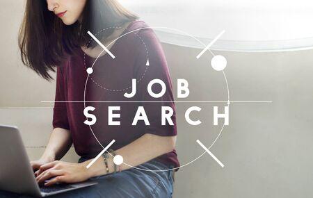 Job Search Employement Headhunting Career Concept Reklamní fotografie