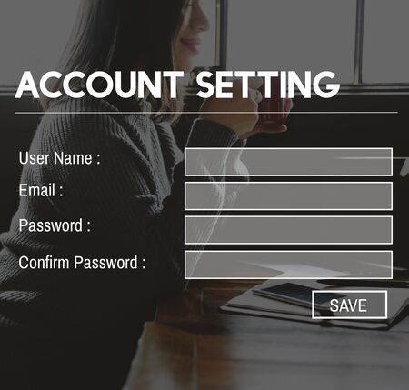 signup: Register Account Setting Sign-Up Enter Subscribe Concept
