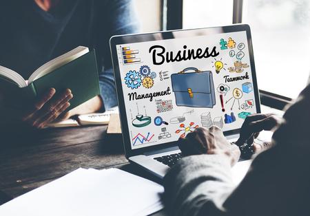 Business online concept on laptop Фото со стока