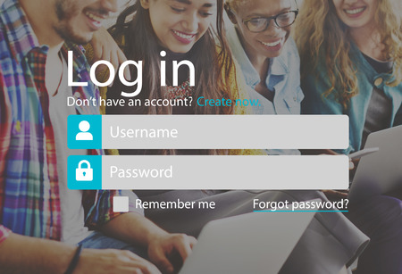log in: Log In Sign In Profile Page Concept Stock Photo