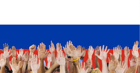 raise the white flag: Russia Flag Patriotism Russian Pride Unity Concept